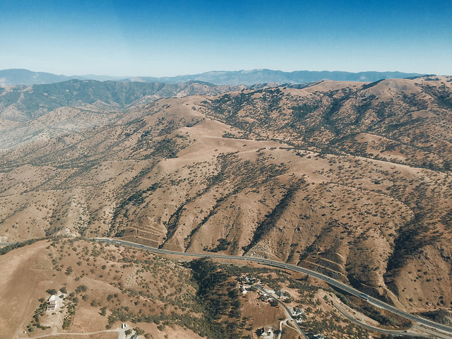 The project has faced daunting technical hurdles, such as getting trains through the Tehachapi Pass, pictured. Photo by Adam Reeder  via Flickr .