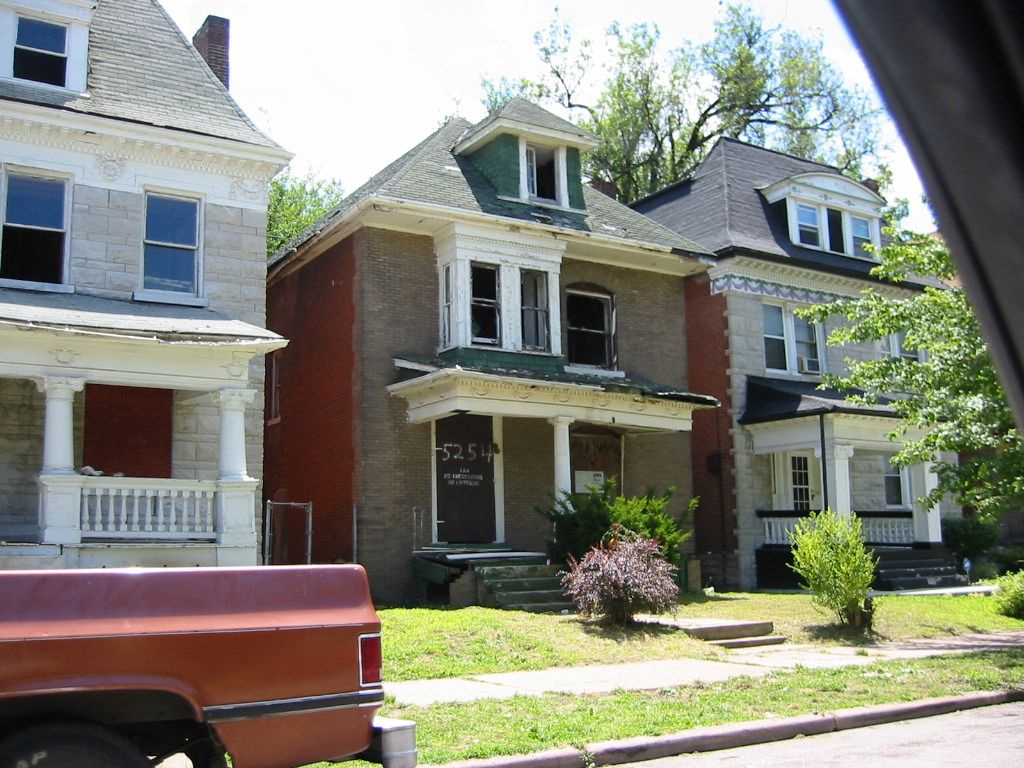 By taxing building improvements, property taxes encourage landlords to sit on vacant and/or decrepit properties, rather than fix them up and face an increased tax bill. (Photo: Paul Hohmann / vanishingstl via  Flickr )