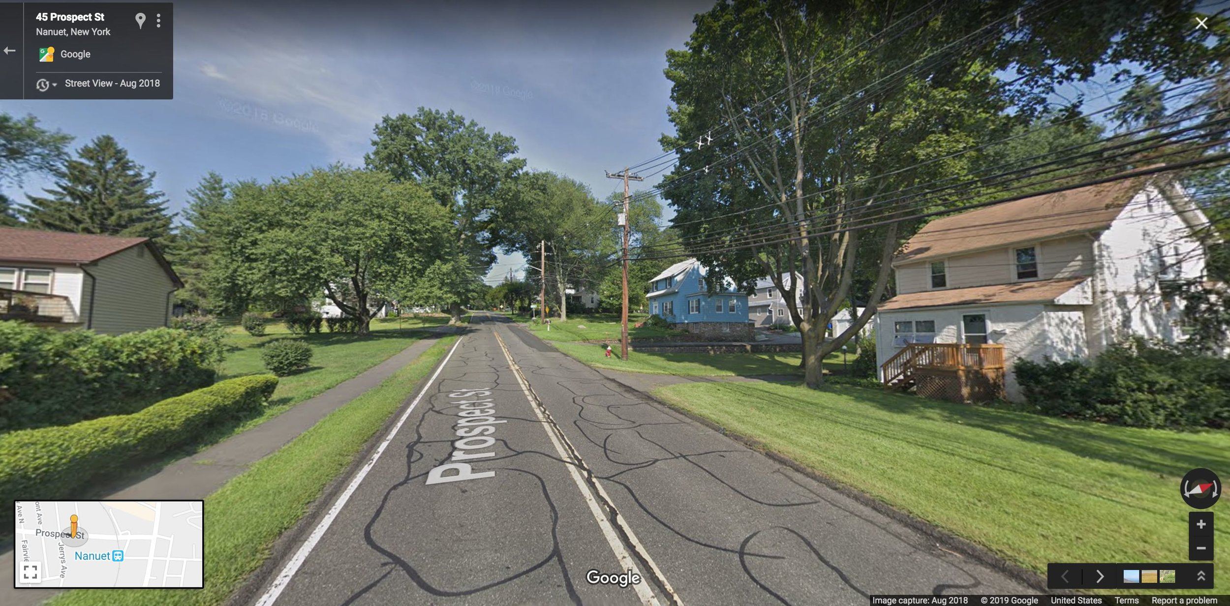 One block from a train station. This is the norm, not the exception. Photo: Google Maps