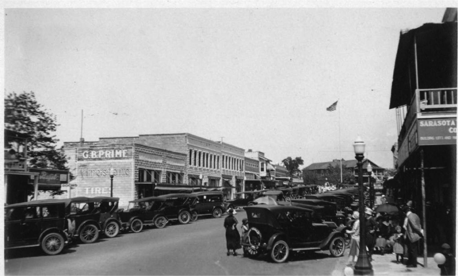 Overtown, Sarasota's first African-American neighborhood, in the 1920s.