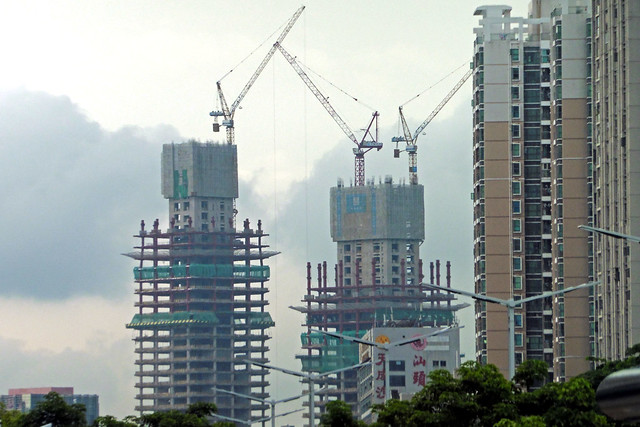 High-rises under construction in Shenzhen, China. (Via  Flickr )