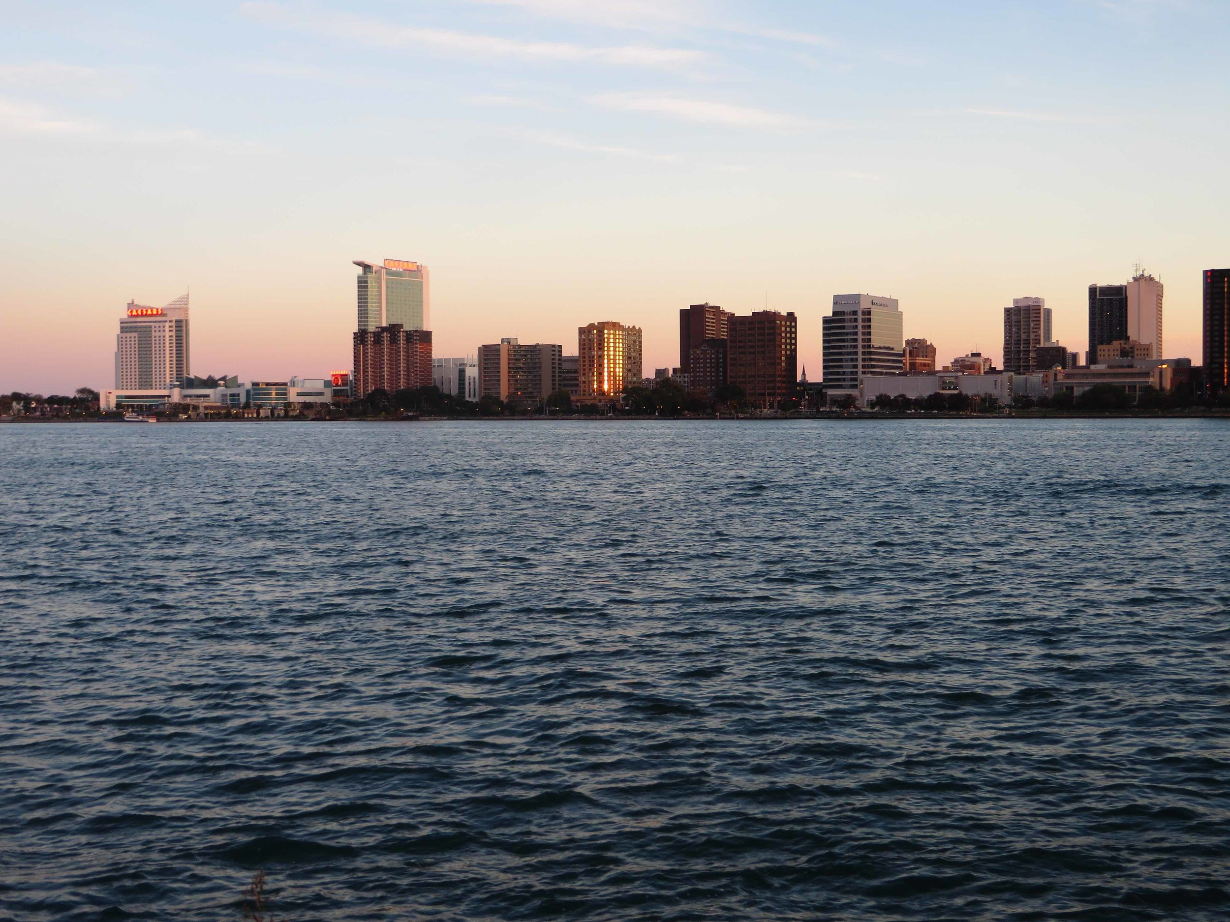 Windsor, ON, as viewed from Detroit, MI. (Image via Wikimedia Commons)