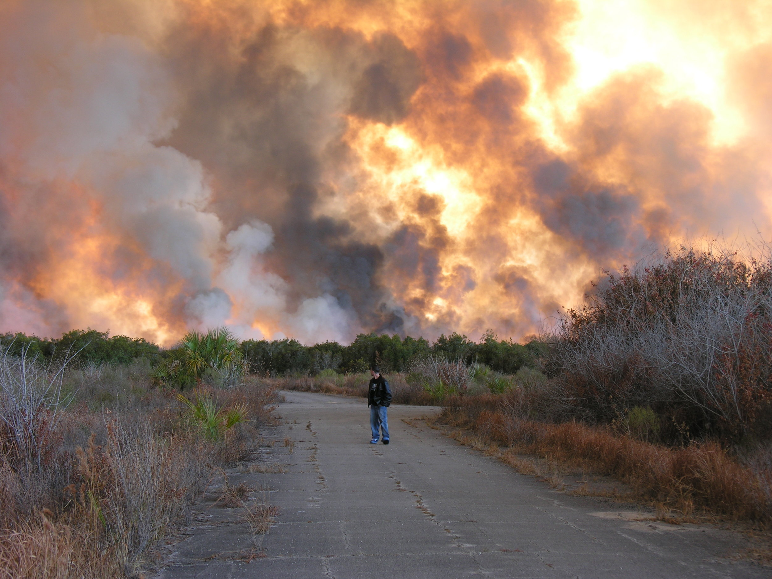 Fire in the Compound, Palm Bay. (Source: Wikimedia Commons)