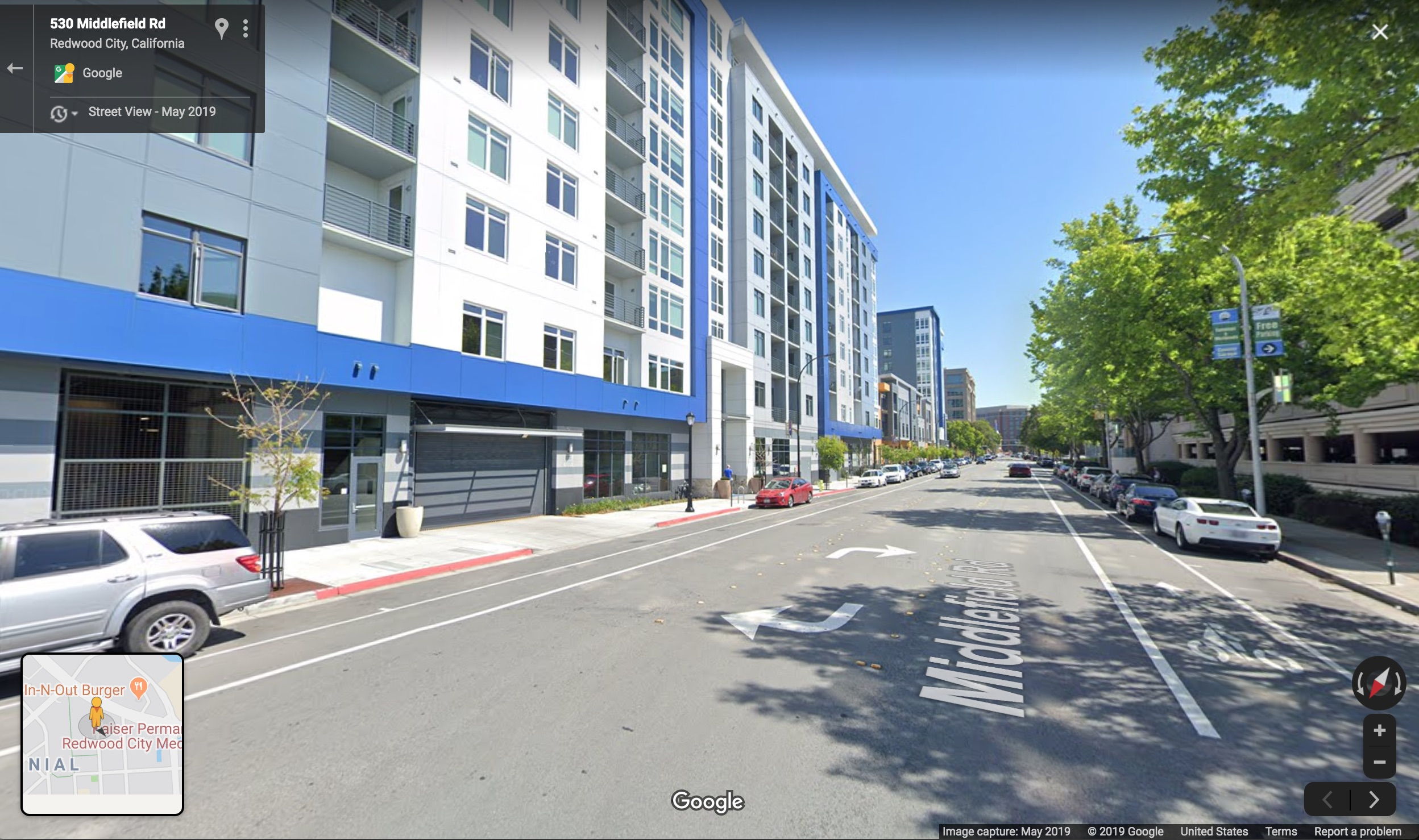 New apartments in downtown Redwood City, California.