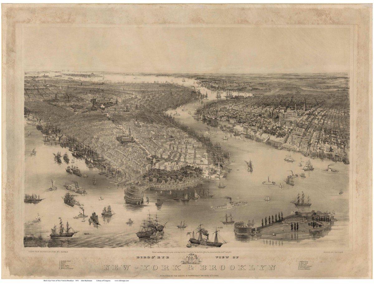 Lower Manhattan (New York), circa 1851