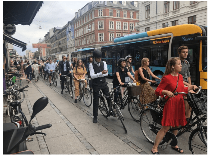 Biking in Copenhagen (Los Angeles Times)