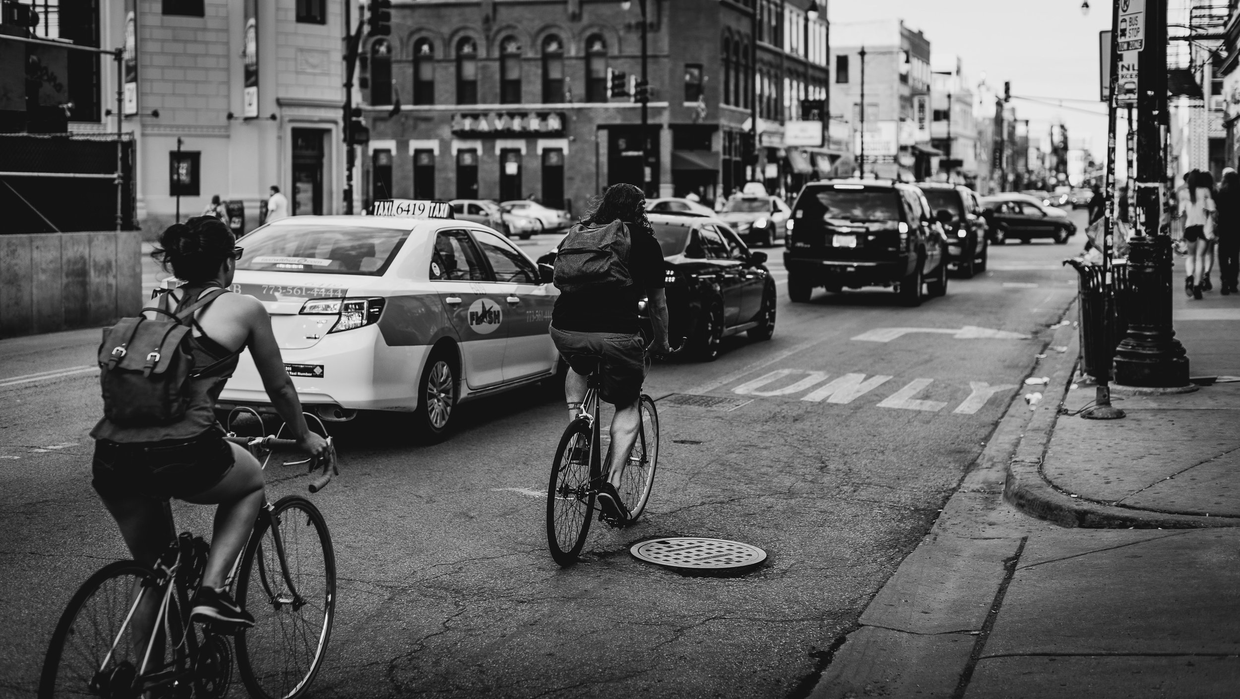 "If you're walking, cycling or taking the bus, you're ""inappropriate data"" and are not included in the ""Urban Mobility Report."" Image via  Adrian Williams ."