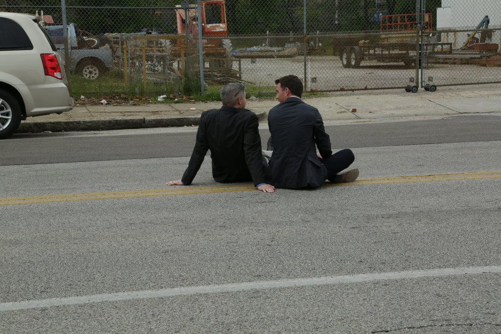 Chuck learning from Mike (literally) on the streets of Memphis.