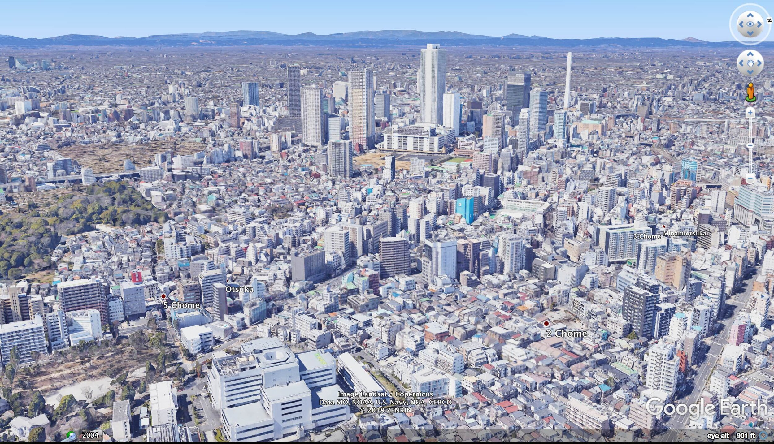 A mix of high-rise, low-rise, and mid-rise buildings characterizes Tokyo. Organic gradations, not sudden transitions.