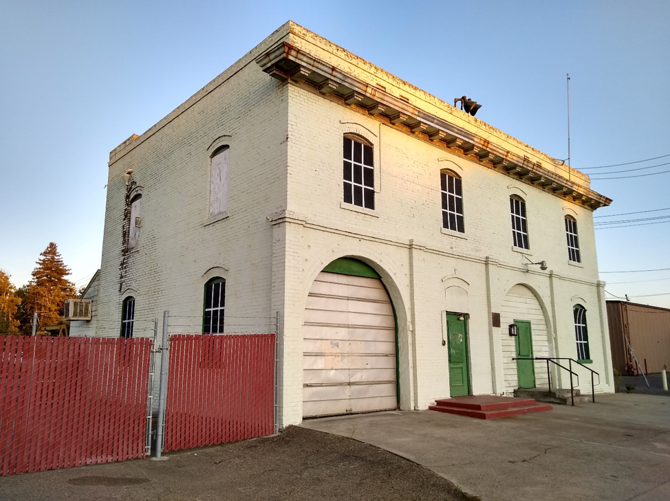 Lodi's historic City Hall building and City-owned lot downtown serve as storage sites.