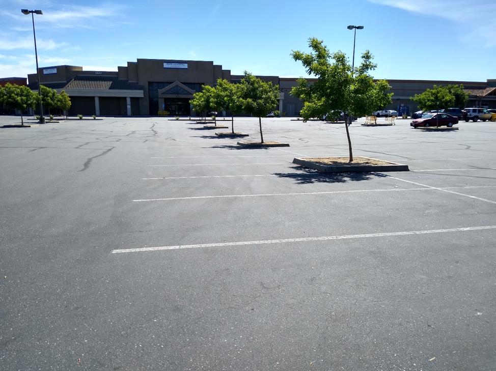 Parking lot and storm water designs persist long after big box stores close. Source: Doug Bojack
