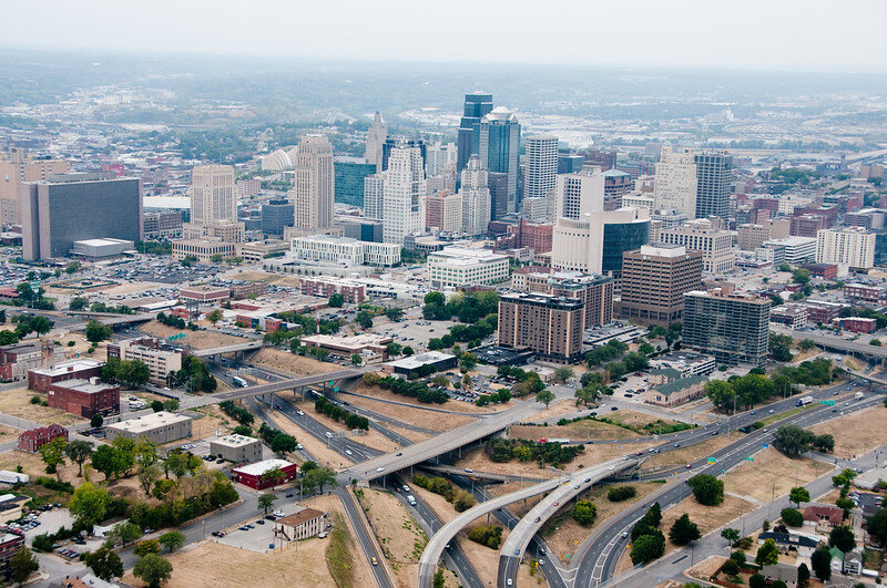 Downtown Kansas City, walled off from surrounding areas by the Loop. Photo: MODOT  via Flickr