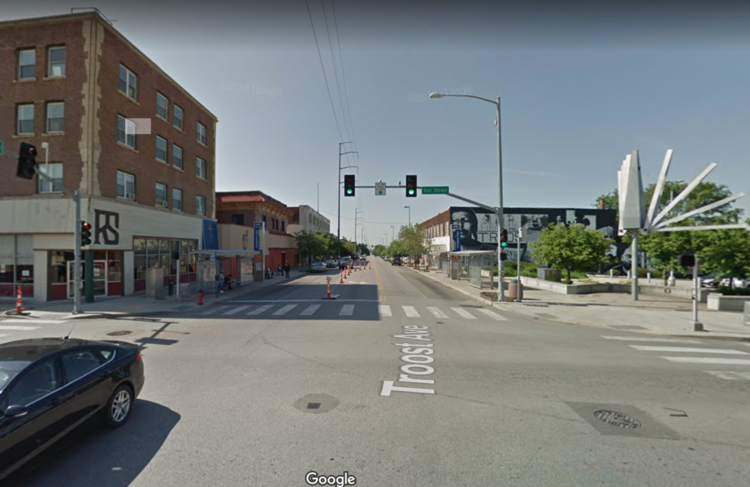 Troost Avenue, the historic racial dividing line in Kansas City. Image source.
