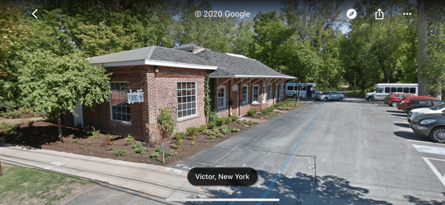 The former Victor Free Library was located in an old inter-urban trolly station.