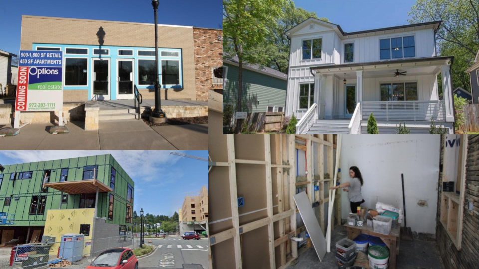 Collage of incremental development projects.