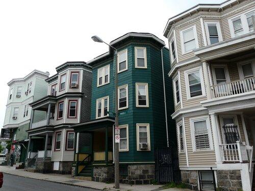 Triple-deckers in Boston.