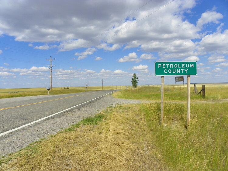 Petroleum County line. Image via Flickr .