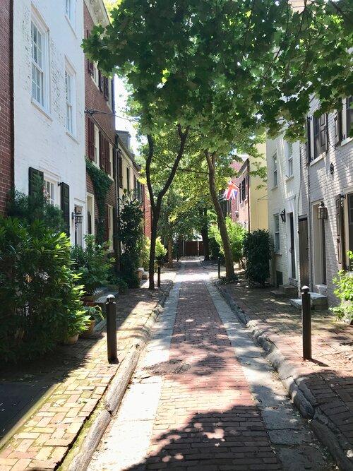 A minor street in Philadelphia today.