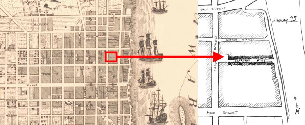 Elfreth's Alley, 1792.