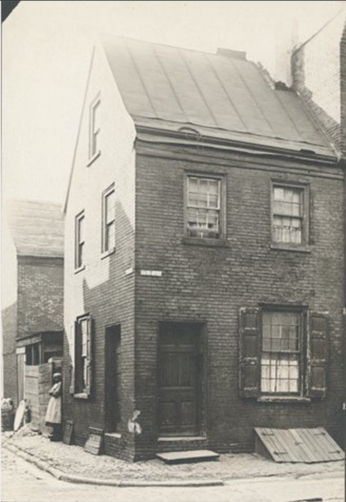 House built in 1813. (Image via the Library Company of Philadelphia.)