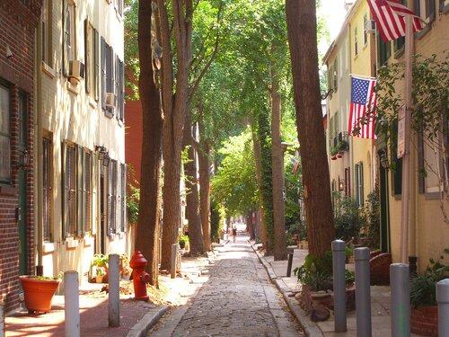 A minor street in Philadelphia. (Image via Wikipedia.)