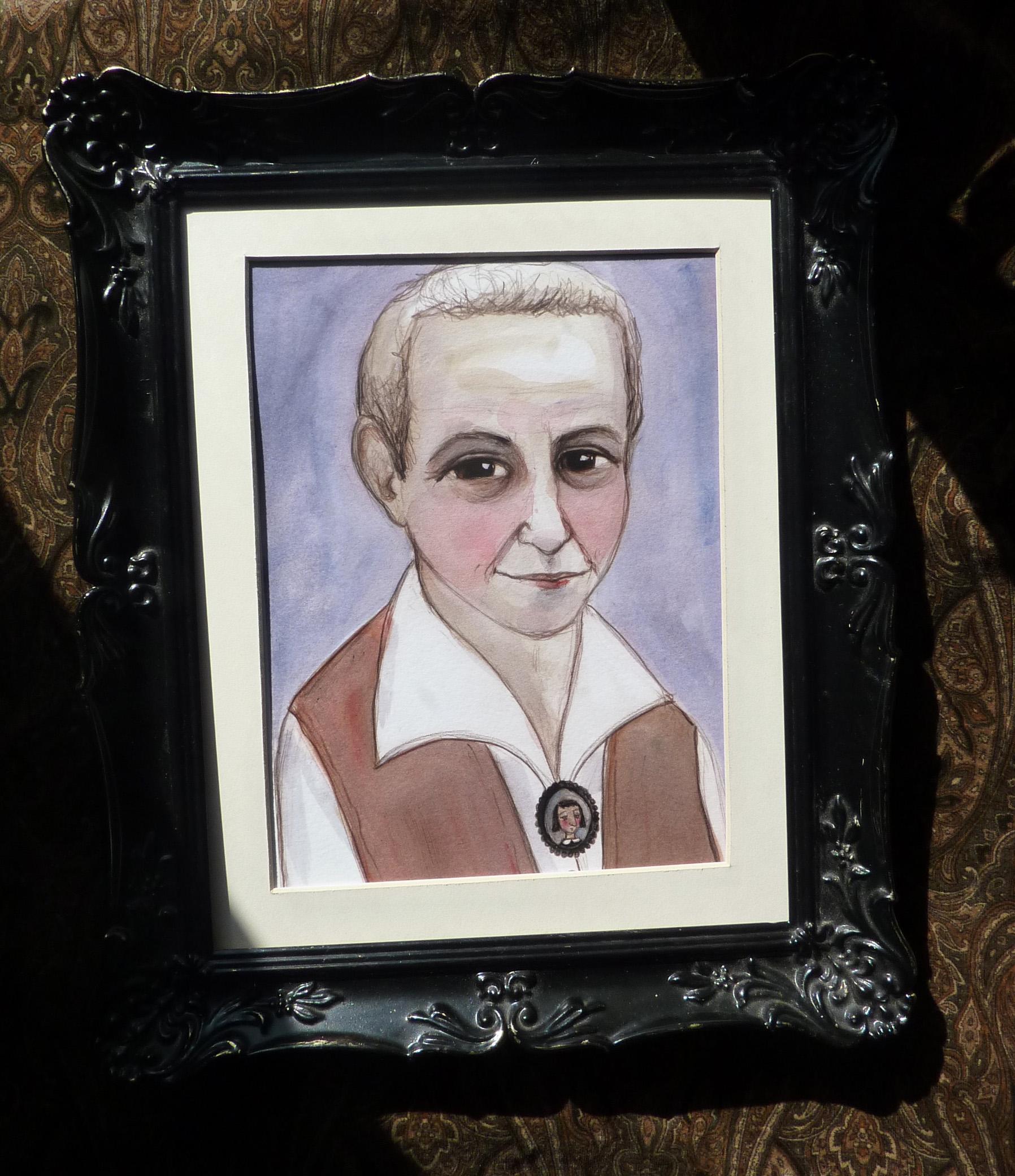 Gertrude Stein Portrait Framed