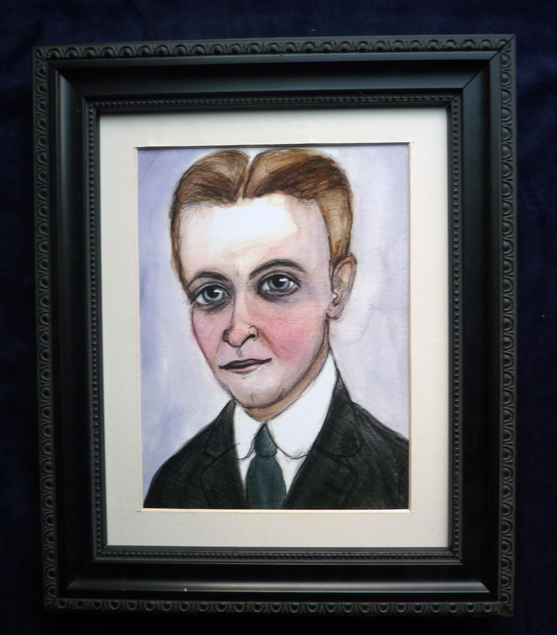 F. Scott Fitzgerald Framed Art Print