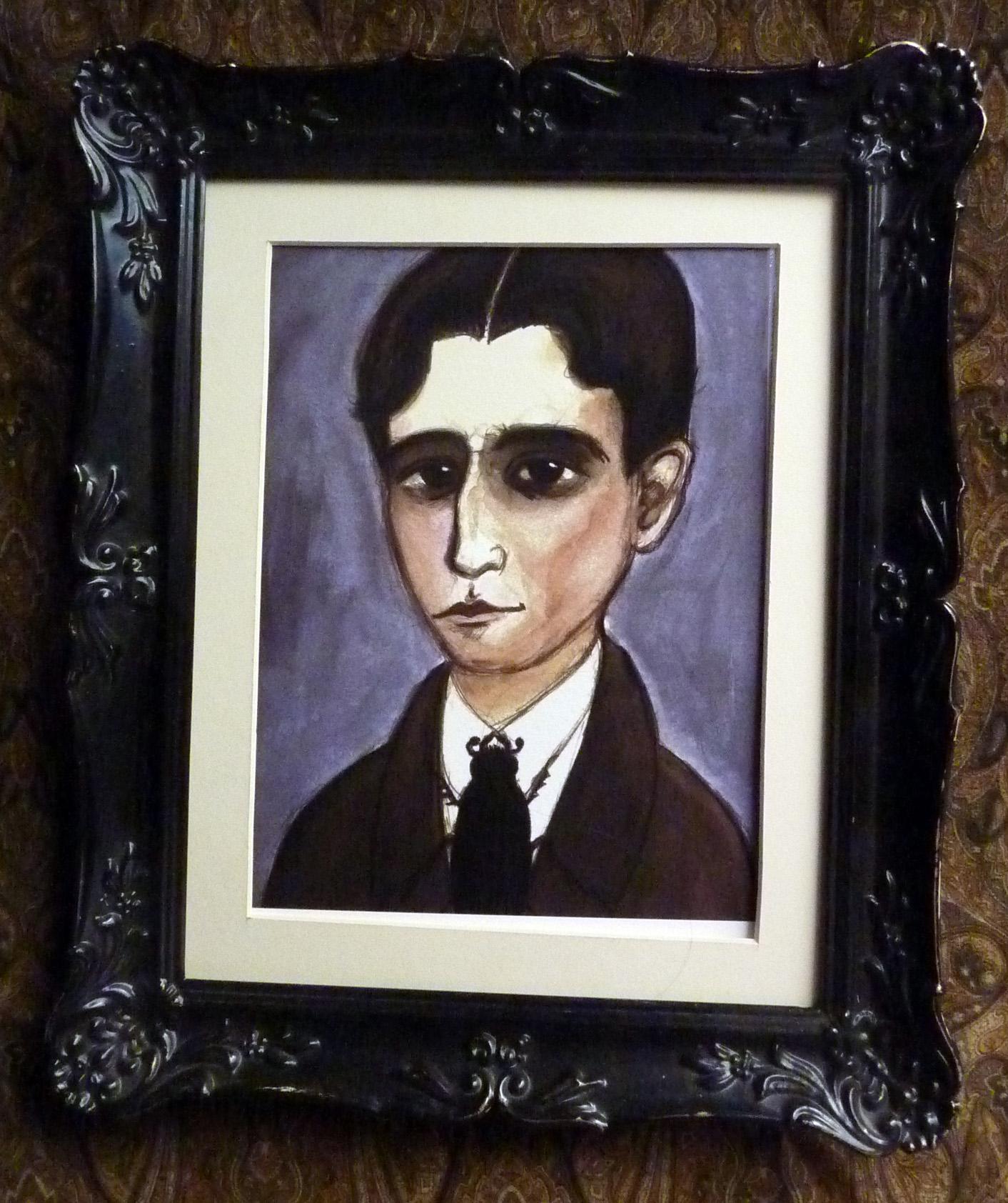 Franz Kafka Art Print Framed