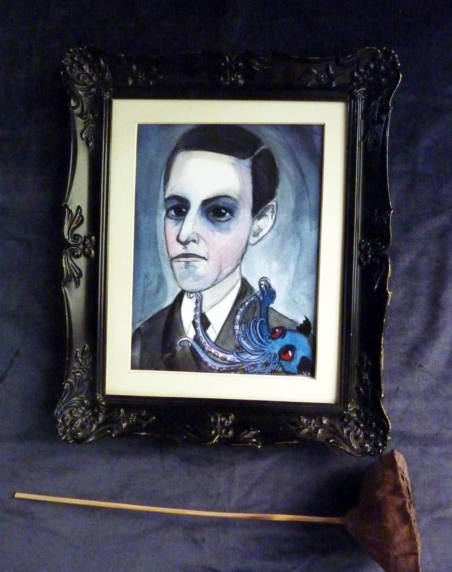 h.p. lovecraft art Print Framed