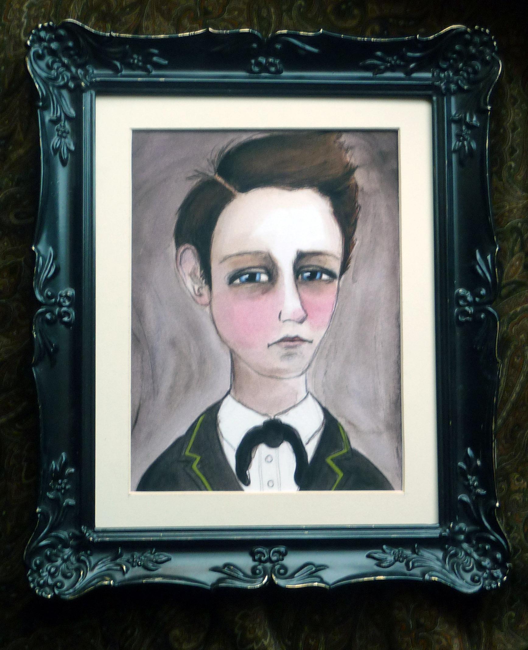 Arthur Rimbaud Literary Print Framed