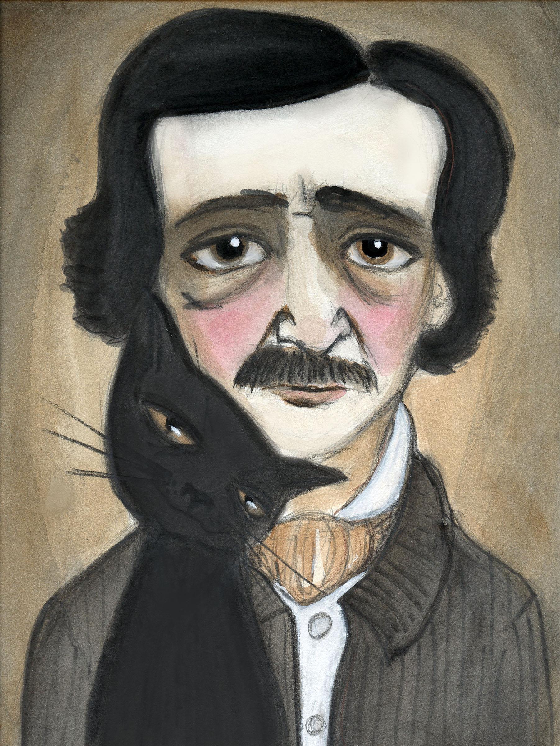 Debra Styer,  Edgar Allan Poe and the Black Cat , 2013