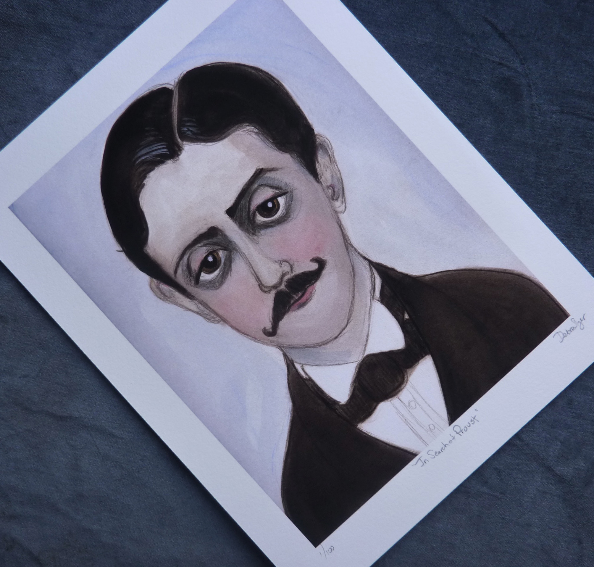 Marcel Proust Literary Art Print