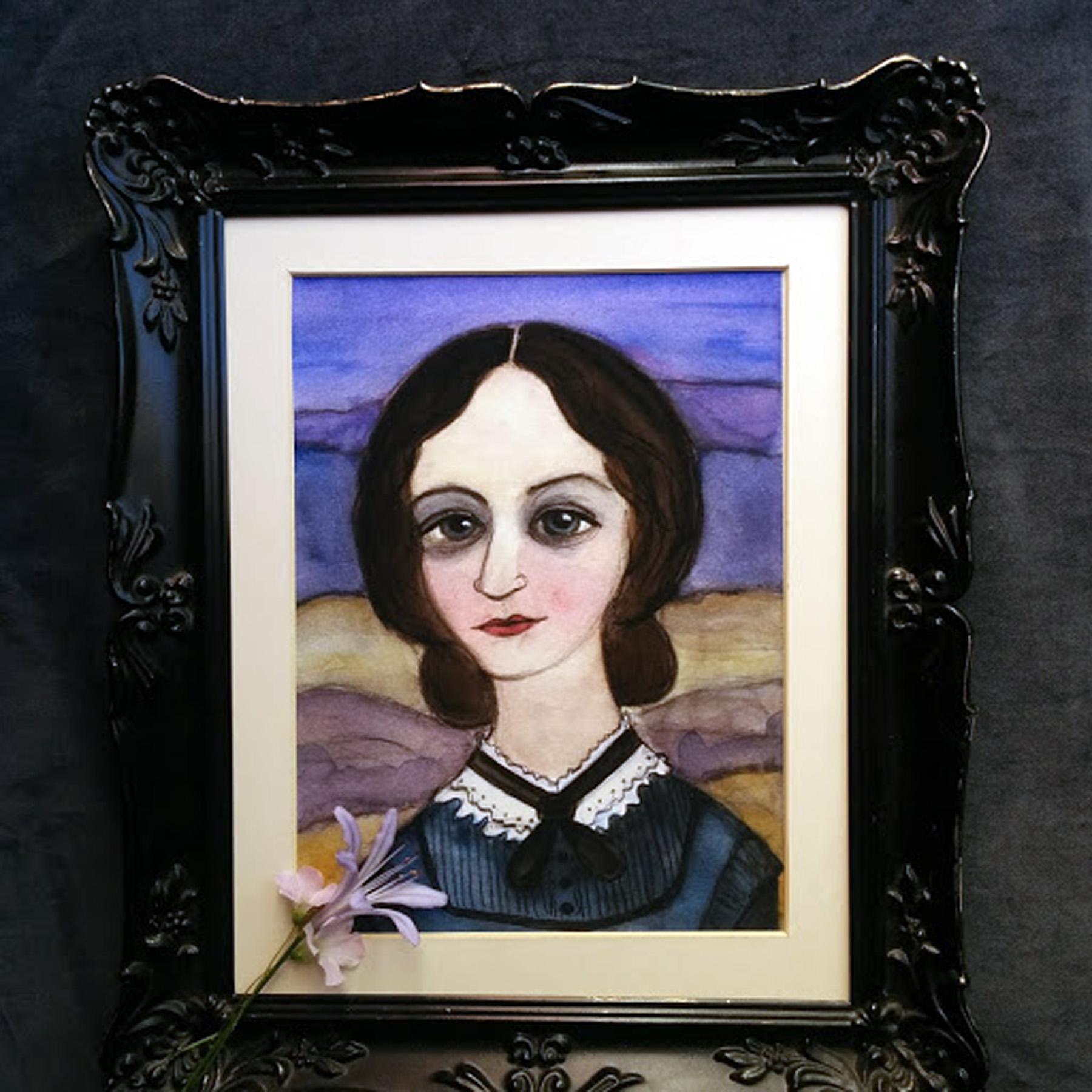 Charlotte Bronte Portrait Framed
