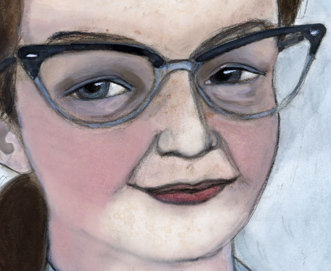 Shirley Jackson Literary Portrait Cropped
