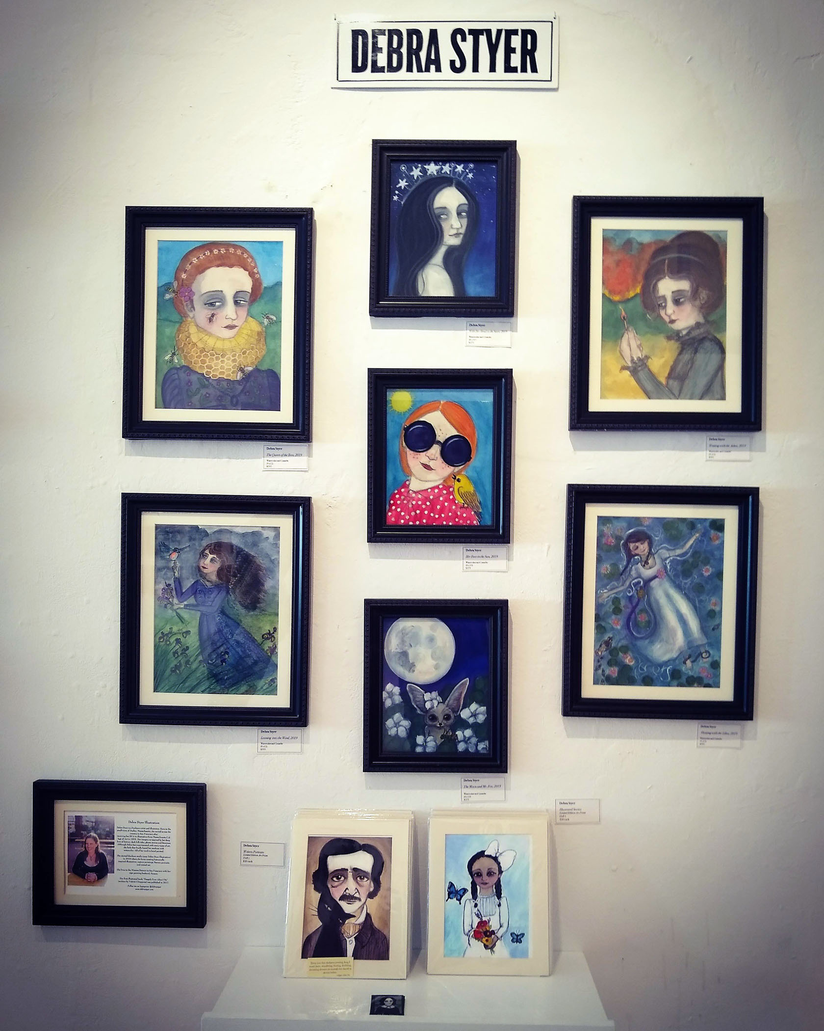 Here's my wall at the gallery!