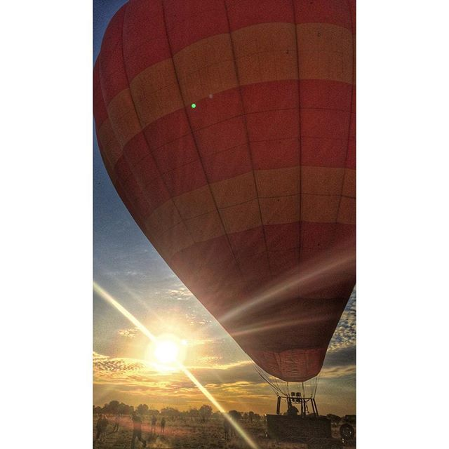 Sunrise with a fear of heights 🌅🎈