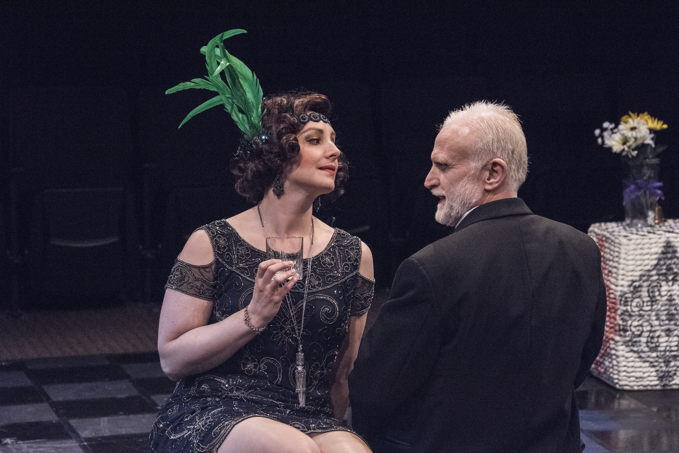 Hayfever , Act 2: Myra Aryudel & David Bliss. Regional production with Irish Classical Theatre