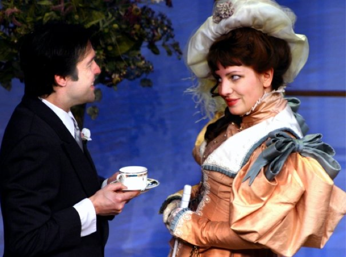 The Importance of Being Earnest : Hon. Gwendolen Fairfax.  Regional production with Kavinoky Theatre, Buffalo NY