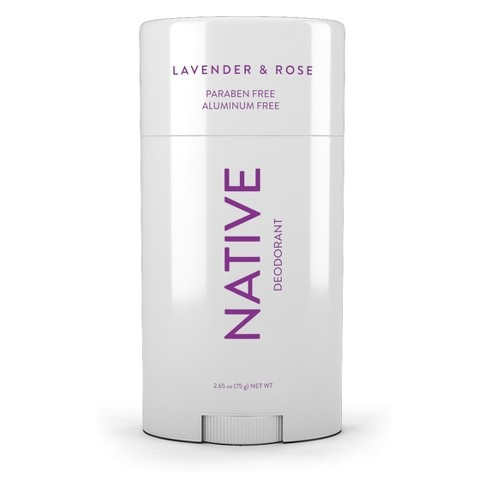1) Native Lavender & Rose Deodorant - Probably not considered a beauty product by everyone but when you smell good, you feel beautiful! I like to make my own deodorant most of the time, but I love to have a stick I can throw in my bag when I'm on the go. I got this deodorant from Urban Daisy Eco Boutique and I am obsessed. It lasts a long time and smells so good!