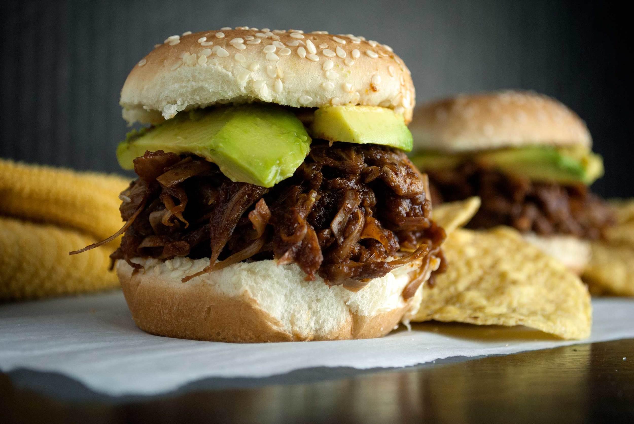 BBQ Jackfruit Sliders w/ Avocado
