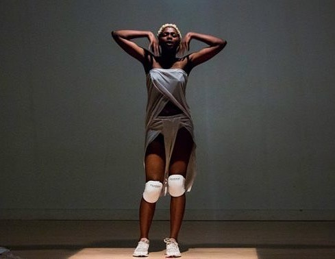 """""""My practice is rooted in harnessing the power of movement as a mode of reclamation: of the body, story, identity, and truth. Movement/dance has been a tool throughout the African diaspora to live in the moment despite the grave oppression and violence Black people have and do experience which can break the body and soul. This history is why movement/dance is at the center of my practice as an artist. I move to practice getting free."""" —@okaynickay"""