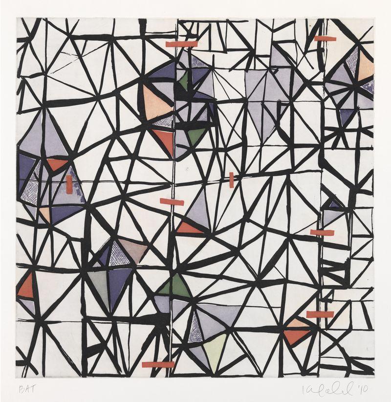 "SACO BOG, Karen Gelardi, 2010.   Soft ground etching, Sugar Lift, and Aquatint. 22 1⁄2"" x 23 1/8"", Edition of 20."