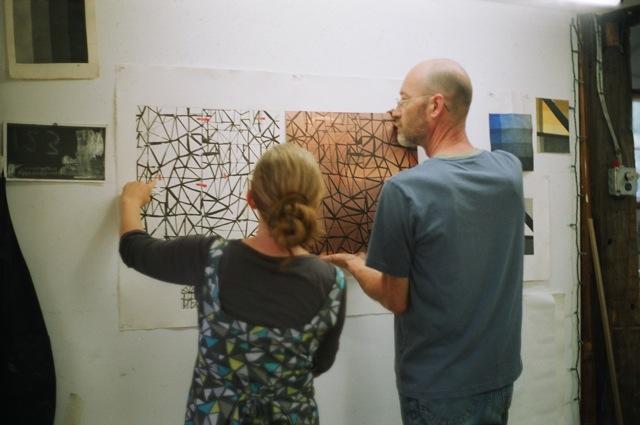 Karen Gelardi and Peter Pettengill at Wingate Studio, 2010