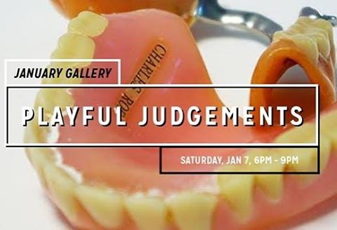 Playful Judgements features Six artists working in or near Columbus Ohio who use playfulness, humor or absurdity in their work as a tool for accessing some greater, more serious conceptual content. This group show was born out of a shared interest in the role humor plays in helping us make sense of the darker and more complex aspects of our lives. Join us for our January gallery opening tomorrow evening. 6pm for members, 7pm for general public. #wildgoosecreative #artontap #artmakescbus #playfuljudgements