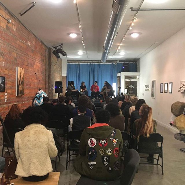 Today we had the pleasure of hosting Exhale: Artist Talk, a conversation about how we move forward as artists in regards to the current political climate. It's wonderful seeing a full house of people inspired to work as a community. #artontap #artmakescbus #wildgoosecreative