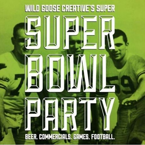 What are you doing this year? Whether you're a football fanatic or just in it for the commercials, join us at the gallery on Feb. 5th. Board games, drinks, football, and friends...there's really nothing better. #wildgoosecreative #superbowl #supersuperbowlparty