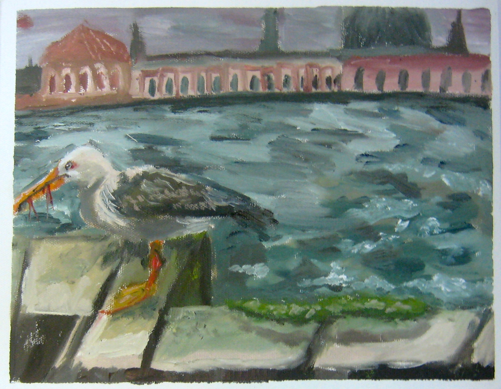 Olivia Pasquarelli, oil on canvas, 2014