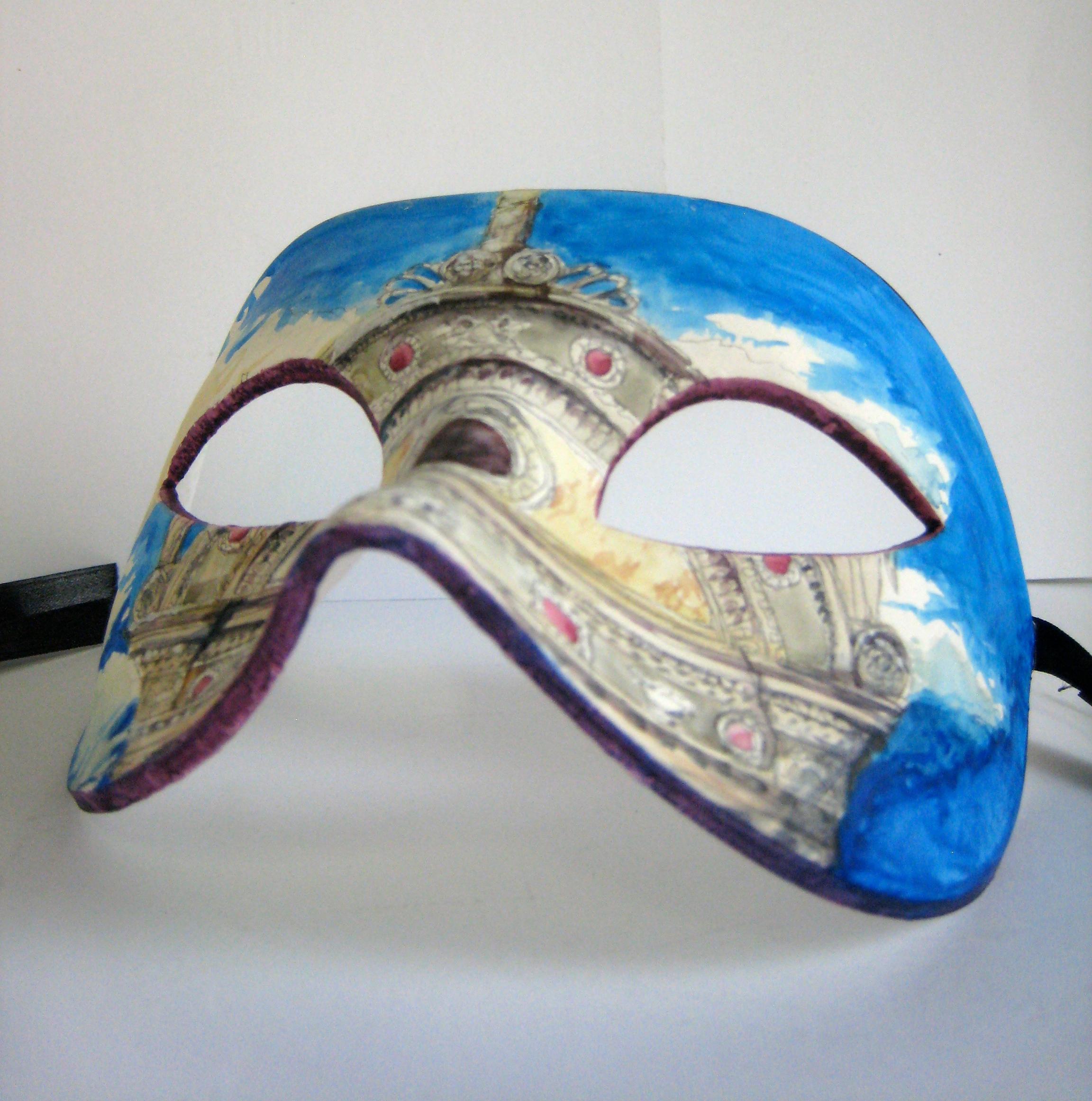 Megan Kelchner,  San Zaccaria , painted mask, 2014