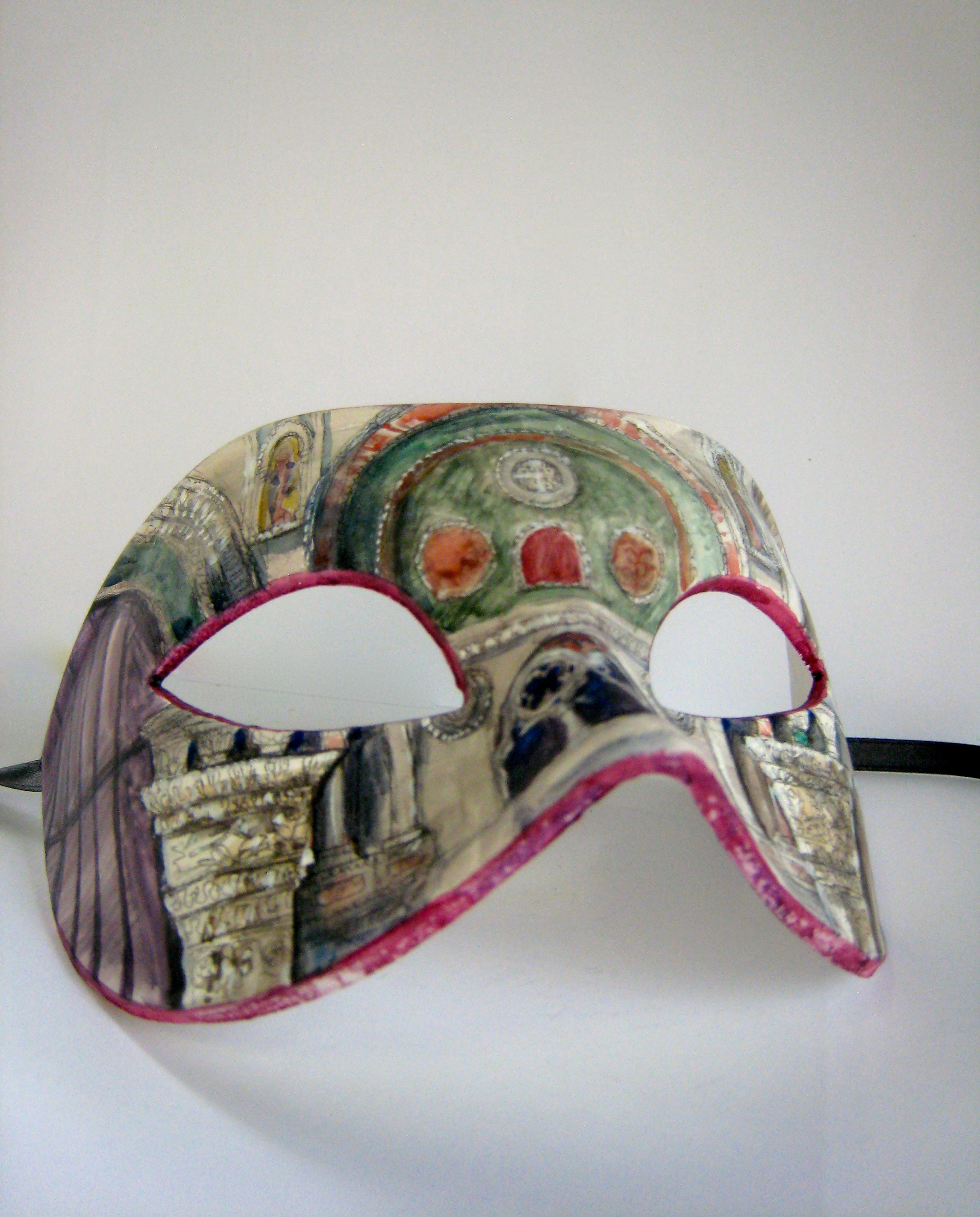Megan Kelchner,  San Marco ,painted mask, 2014