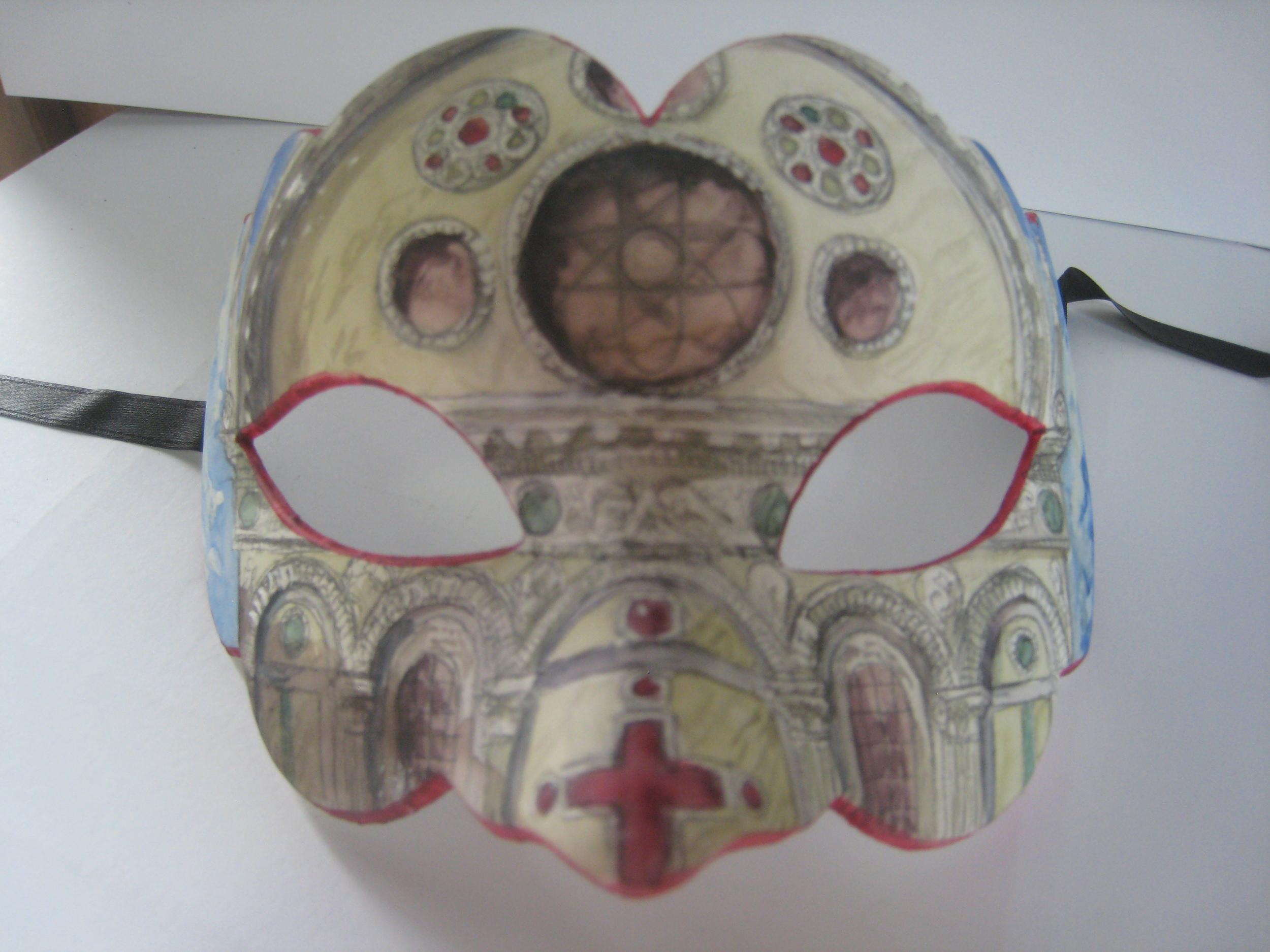 Megan Kelchner,  Santa Maria dei Miracoli, painted mask, 2014
